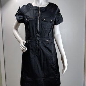 Kenneth Cole NY dress zip front snap pockets sz 6